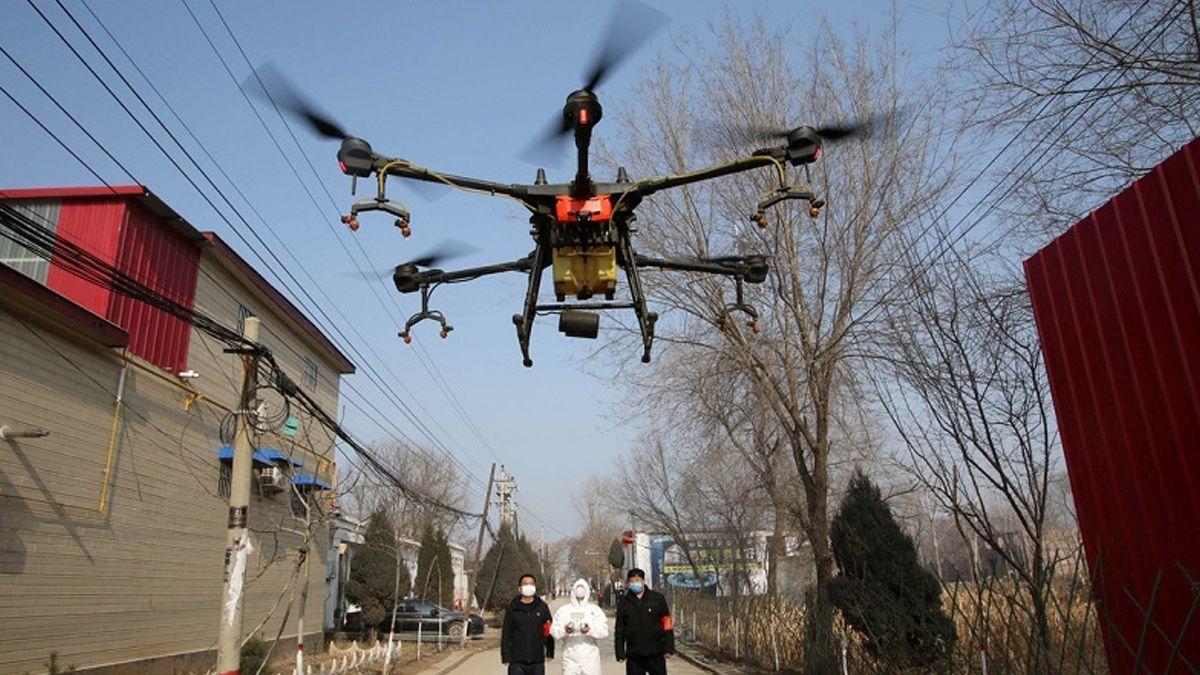 Coronavirus: en China usan drones para medir la fiebre