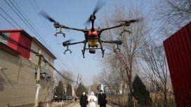 En China usan drones para medir la fiebre