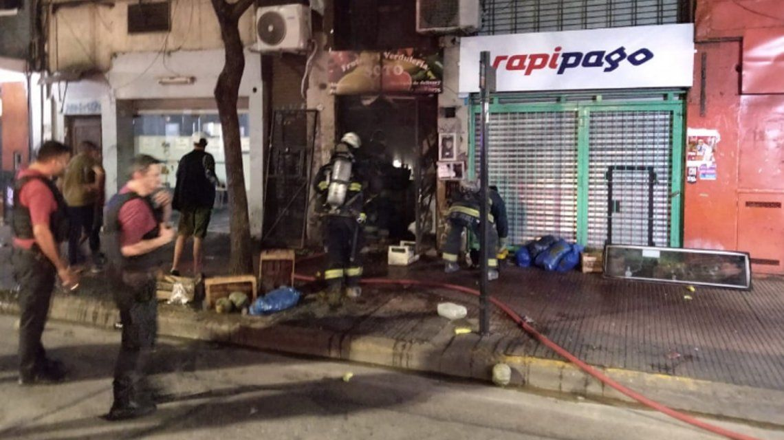 Se incendió una verdulería y una mujer murió