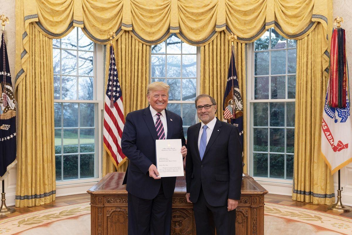 Puede contar con este presidente: el mensaje de Trump al embajador argentino en Washington
