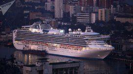 Un pasajero argentino del crucero varado en Japón tiene coronavirus