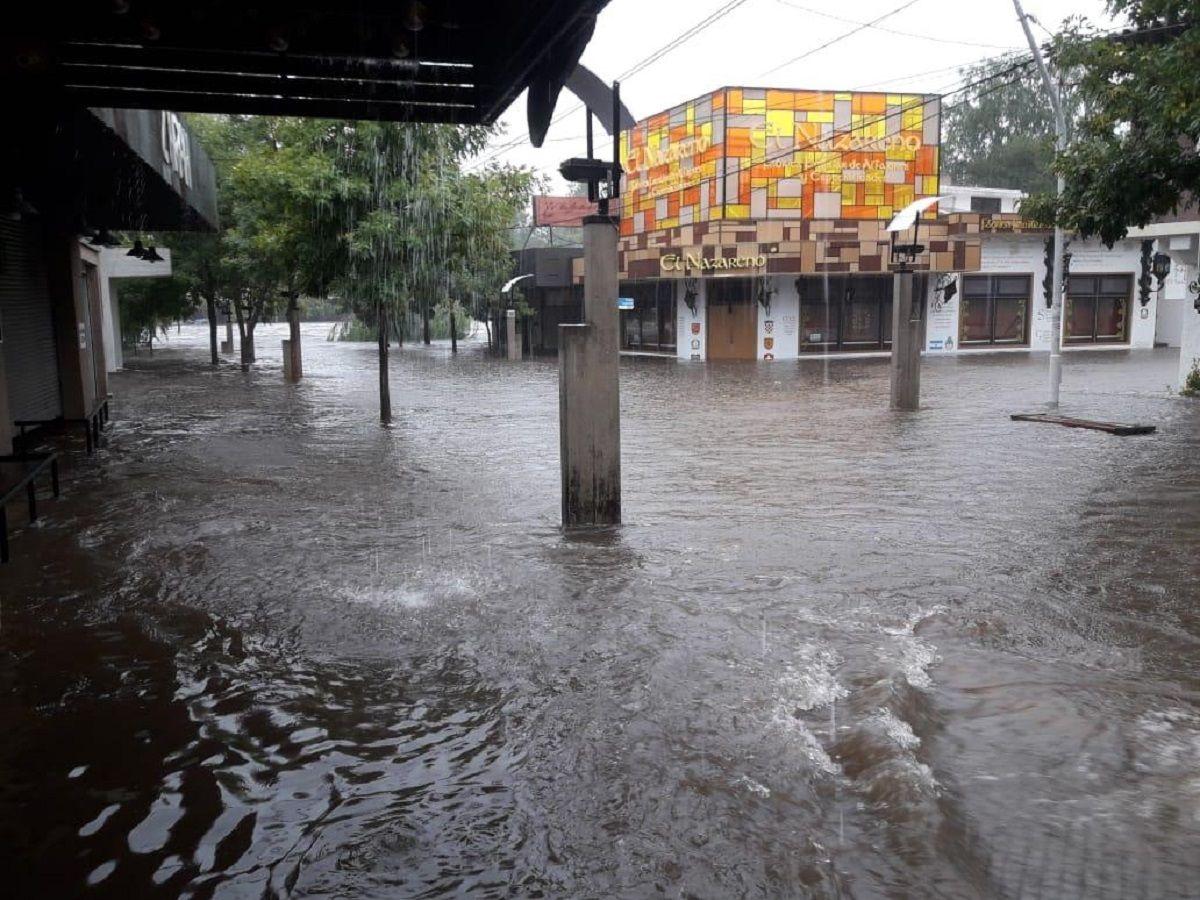 En Mina Clavero la zona urbana se vio afectada