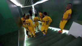 La particular arenga de Messi en el entretiempo del último partido del Barcelona