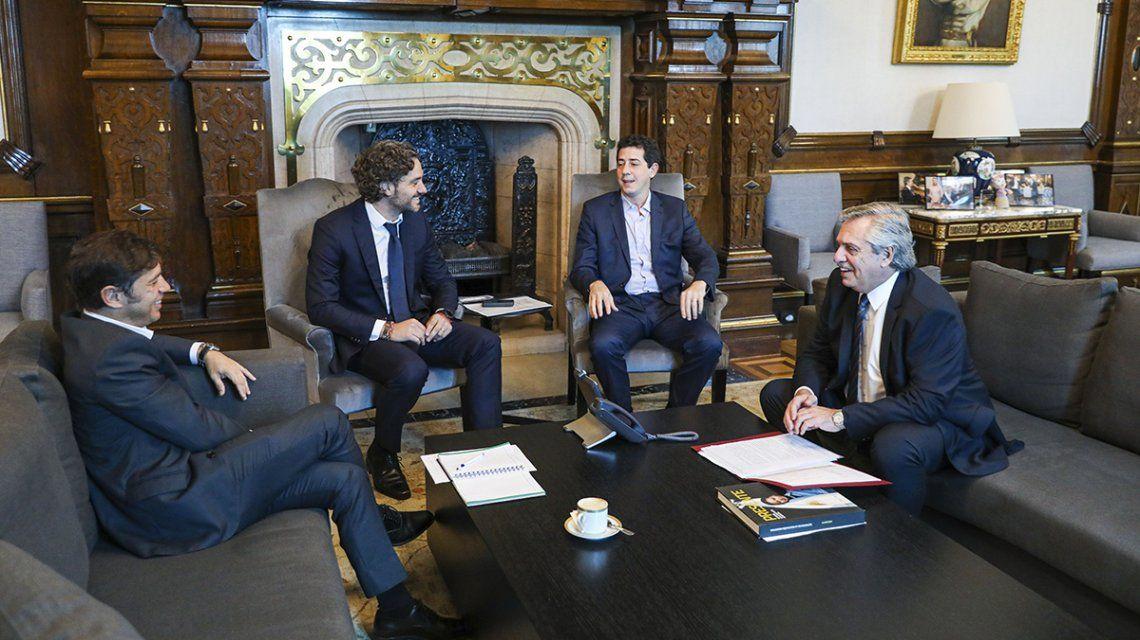 La reunión fue en el despacho presidencial de la Casa Rosada