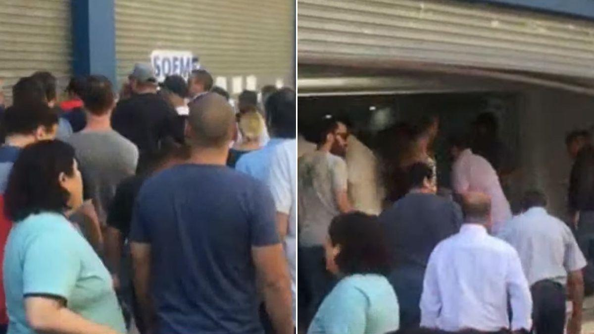 Incidentes en la sede porteña del Soeme por una interna gremial