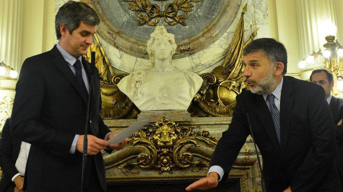 Jorge Grecco al jurar en Casa de Gobierno