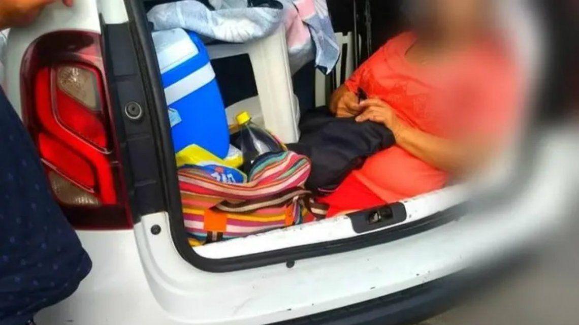 Insólito: un argentino llevaba a la suegra en el baúl rumbo a Florianópolis