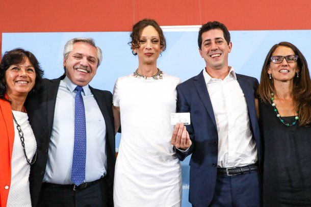 Vilma Ibarra, Alberto Fernández, Isha Escribano y Elizabeth Gómez Alcorta