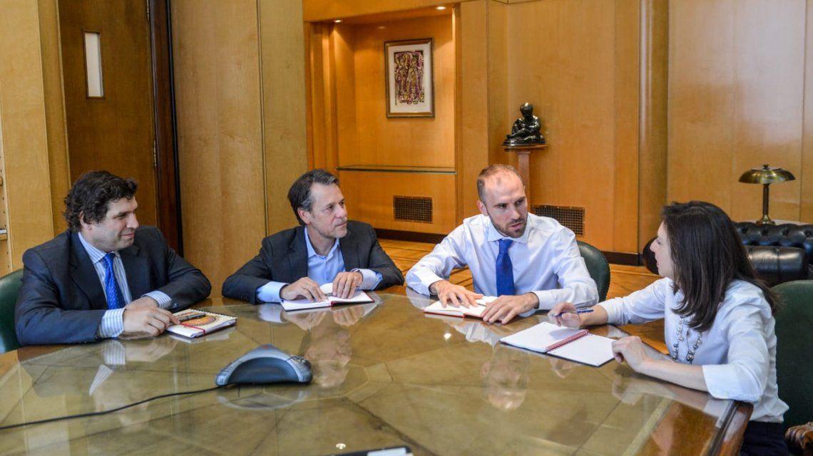 Martín Guzmán con el FMI