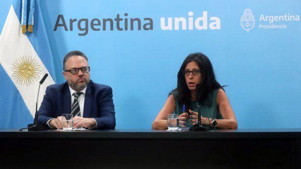 El ministro de Desarrollo Productivo, Matías Kulfas, y la secretaria de Comercio Interior, Paula Español