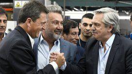 Sergio Massa, Teddy Karagozian y Alberto Fernández