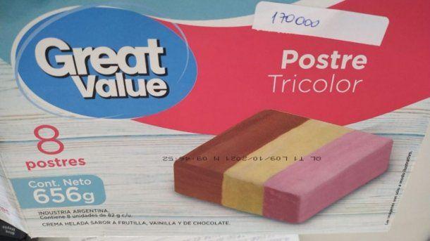 La ANMAT retiró preventivamente del mercado un lote del helado tricolor Grat Value, por contener la bacteria listeria monocytogenes.