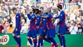 Con cuatro goles de Messi