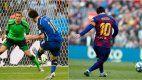 Messi contra Neuer en Brasil 2014 y contra el Eibar en 2020