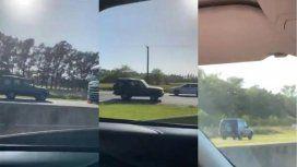 VIDEO: circuló en contramano por la Autovía 2 para evitar el embotellamiento