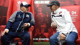 Diego Armando Maradona y Ricardo Enrique Bochini