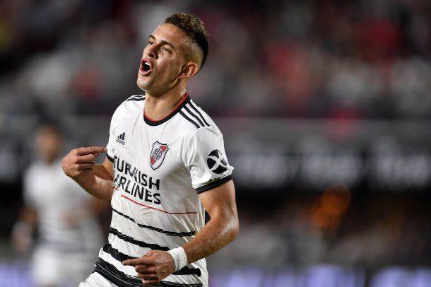 Borré festeja su gol ante Estudiantes