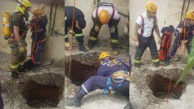 Una mujer cayó a un pozo de 10 metros de profundidad: así fue el dramático rescate