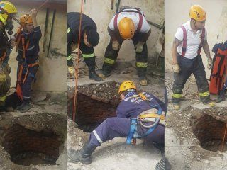 una mujer cayo a un pozo de 10 metros de profundidad: asi fue el dramatico rescate