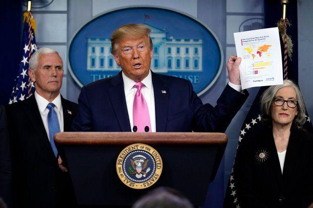 Donald Trump había puesto al vicepresidente Mike Pence al frente de un comité contra el coronavirus