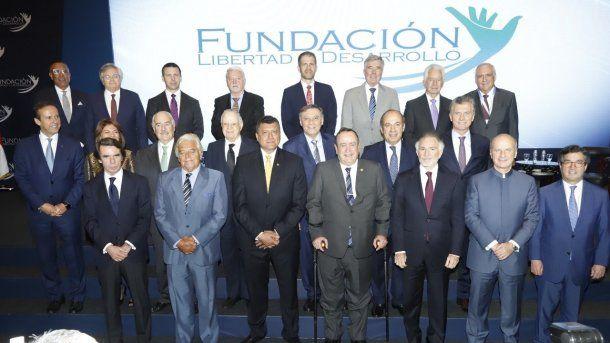 El líder de Juntos por el Cambio, Mauricio Macri, estuvo en la Fundación Libertad y Desarrollo
