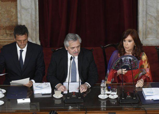 El presidente Alberto Fernández anunció la medida sobre la AFI publicada este jueves en el Boletín Oficial durante la apertura de sesiones extraordinarias