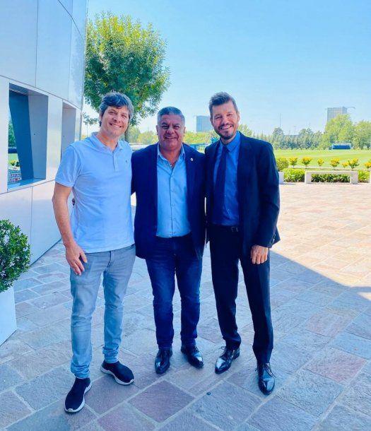 Mario Pergolini, Chiqui Tapia y Marcelo Tinelli, hombres fuertes del fútbol argentino
