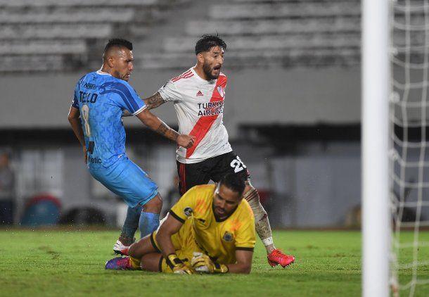 River goleó 8-0 aBinacional en el último partido antes del parate de la Copa Libertadores 2020.
