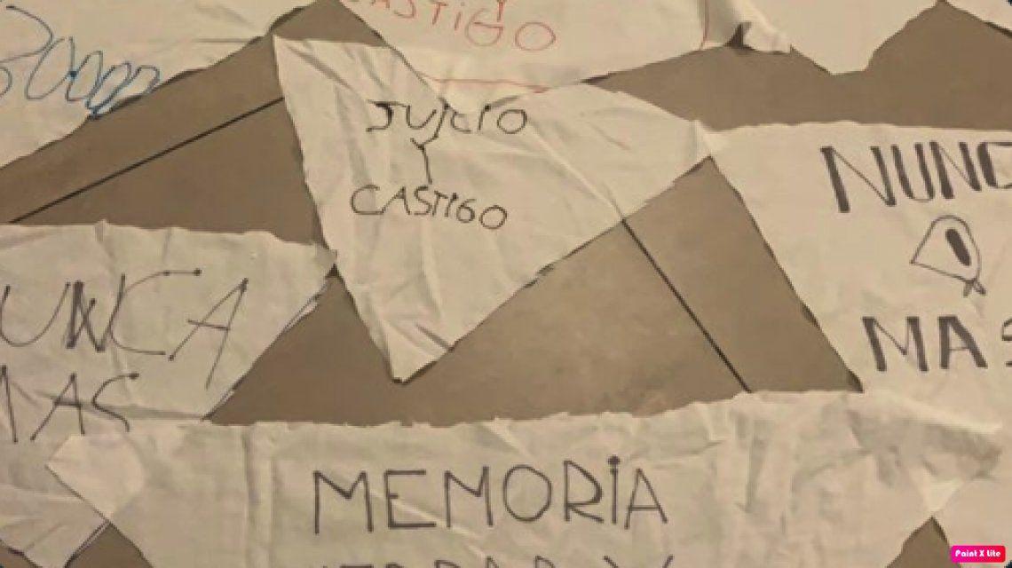 Pañuelazo blanco por el Día de la Memoria en medio del aislamiento
