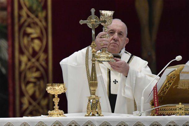 El papa Francisco celebró una atípica misa de Domingo de Resurrección