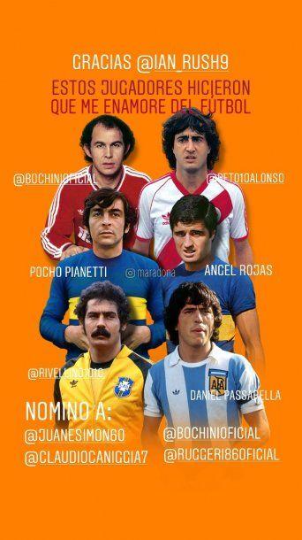 Los seis elegidos de Diego Maradona en el desafío de Instagram que le planteó el galés Ian Rush