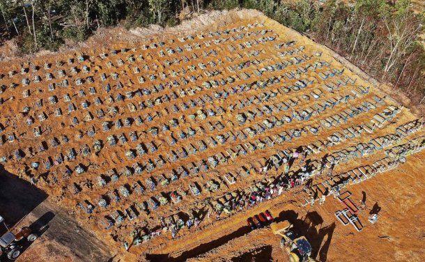 Brasil descontrolado: en Manos el cementerio se desbordó de víctimas de coronavirus