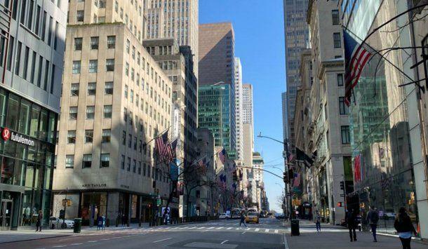 Nueva York vacía en medio de la pandemia de coronavirus. Foto: Rosalía Costantino