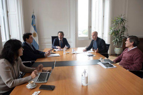 Santiago Cafiero encabezó una reunión con Horacio Rodríguez Larreta: el jefe de Gobierno le pidió ampliar las excepciones para la cuarentena