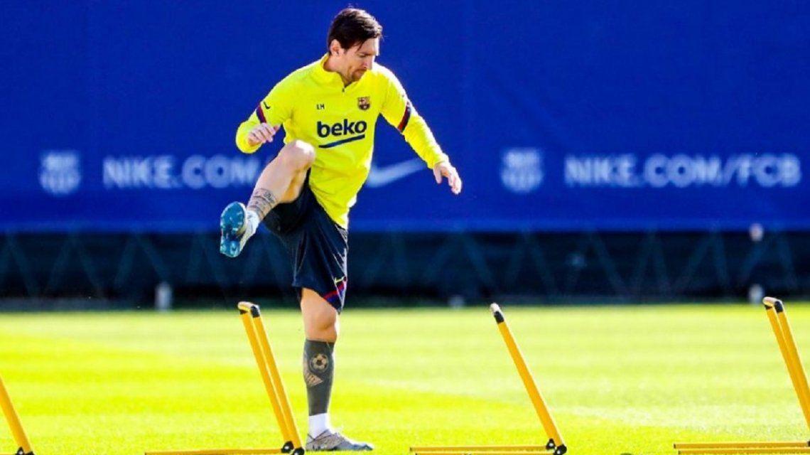 Preocupación por Messi: sigue sin entrenar y Barcelona informó detalles de su lesión