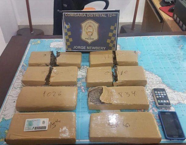 La droga que presentaron los policías el día del allanamiento