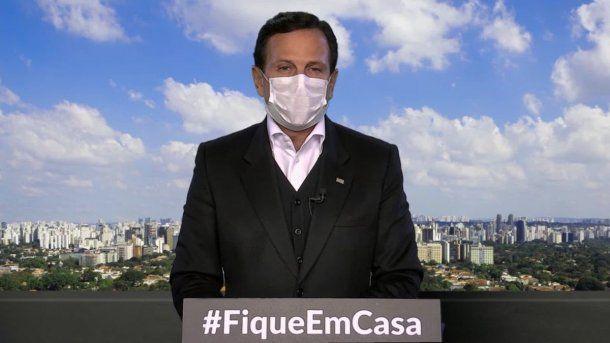 Joao Doria, gobernador de San Pablo, es uno de los principales opositores a Jair Bolsonaro: anunció un plan de flexibilización de la cuarentena en cinco fases