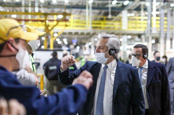 Alberto Fernández visitó la planta de Toyota el miércoles: el jueves se detectó un caso asintomático de coronavirus Covid-19 en uno de los empleados que fue asistido y al que se le aplicó el protocolo correspondiente