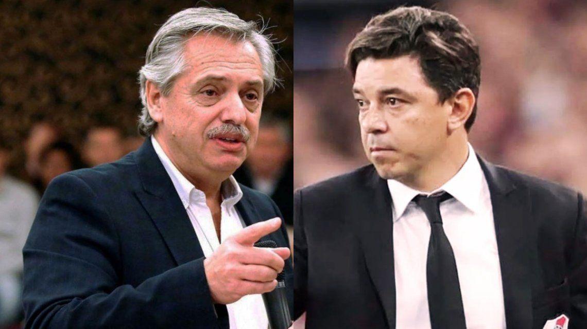Alberto Fernández habló con Marcelo Gallardo sobre el posible regreso del fútbol