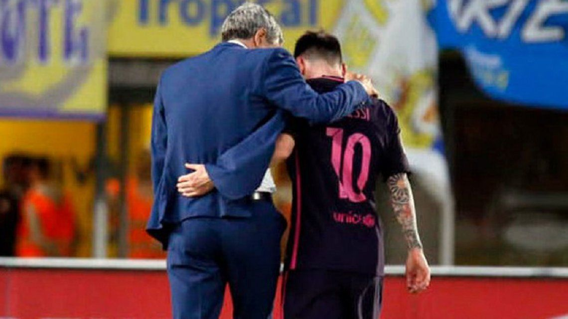 Quique Setién habló sobre el estado físico de Lionel Messi