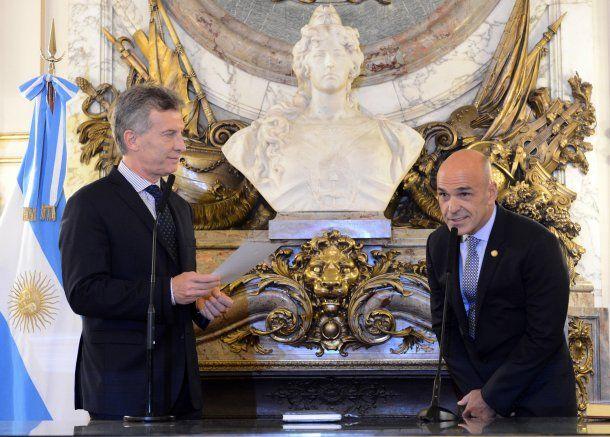 Macri y el ex titular de la AFI, Gustavo Arribas