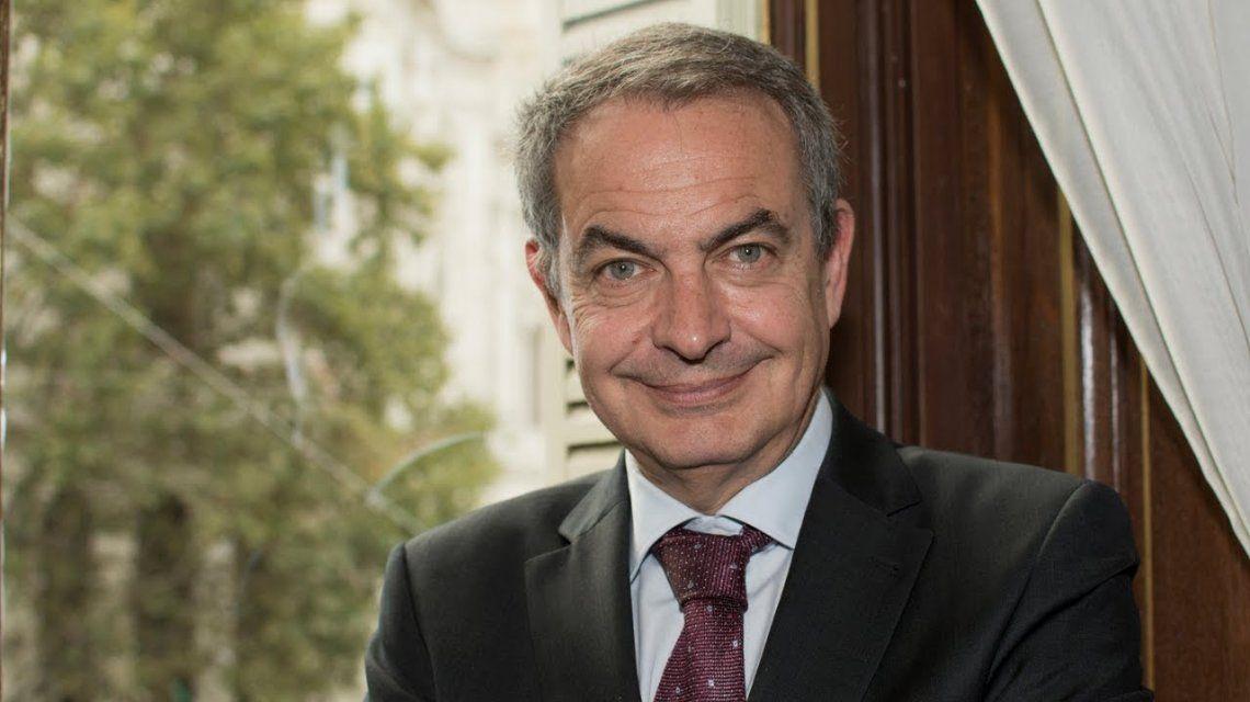 Rodriguez Zapatero elogió el liderazgo de Alberto Fernández