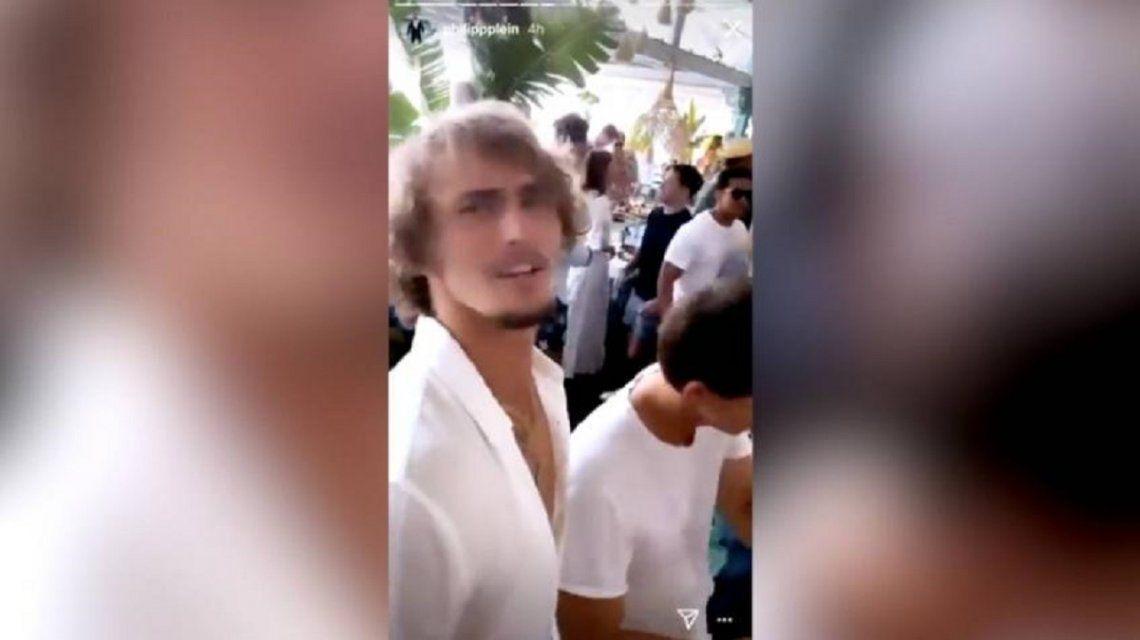 Alex Zverev, de fiesta a una semana del escándalo del Adria Tour