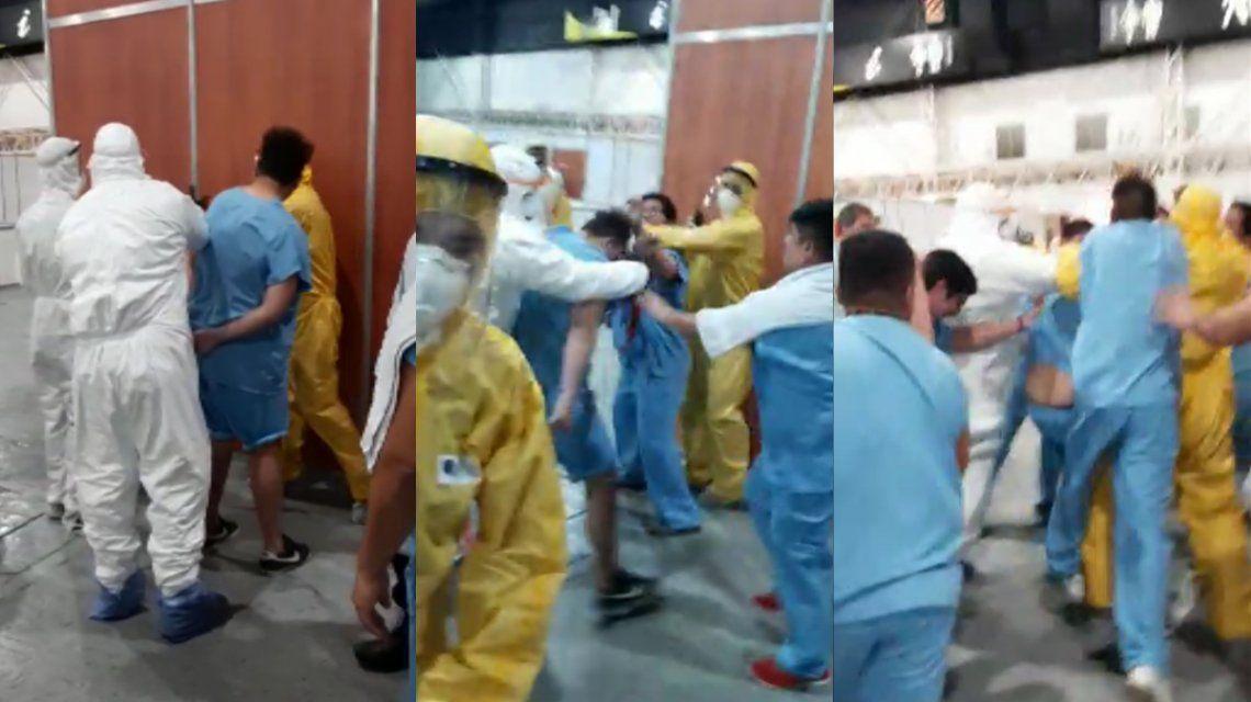 VIDEO: Un paciente con coronavirus robó un celular en Costa Salguero y casi lo linchan