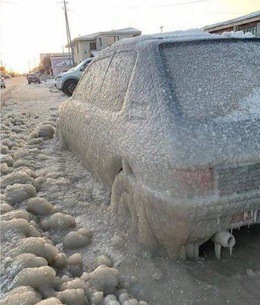Frío extremo en Tierra del Fuego. Foto: FM Libre
