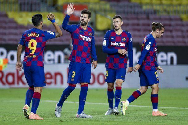 Con Lionel Messi, el Barcelona le ganó al Espanyol por la Liga española y lo mandó a Segunda