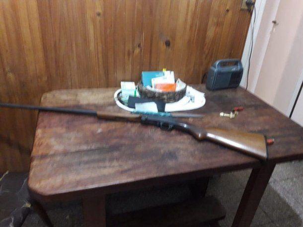 La escopeta que usó el jubilado. Foto: Ahora Mar del Plata