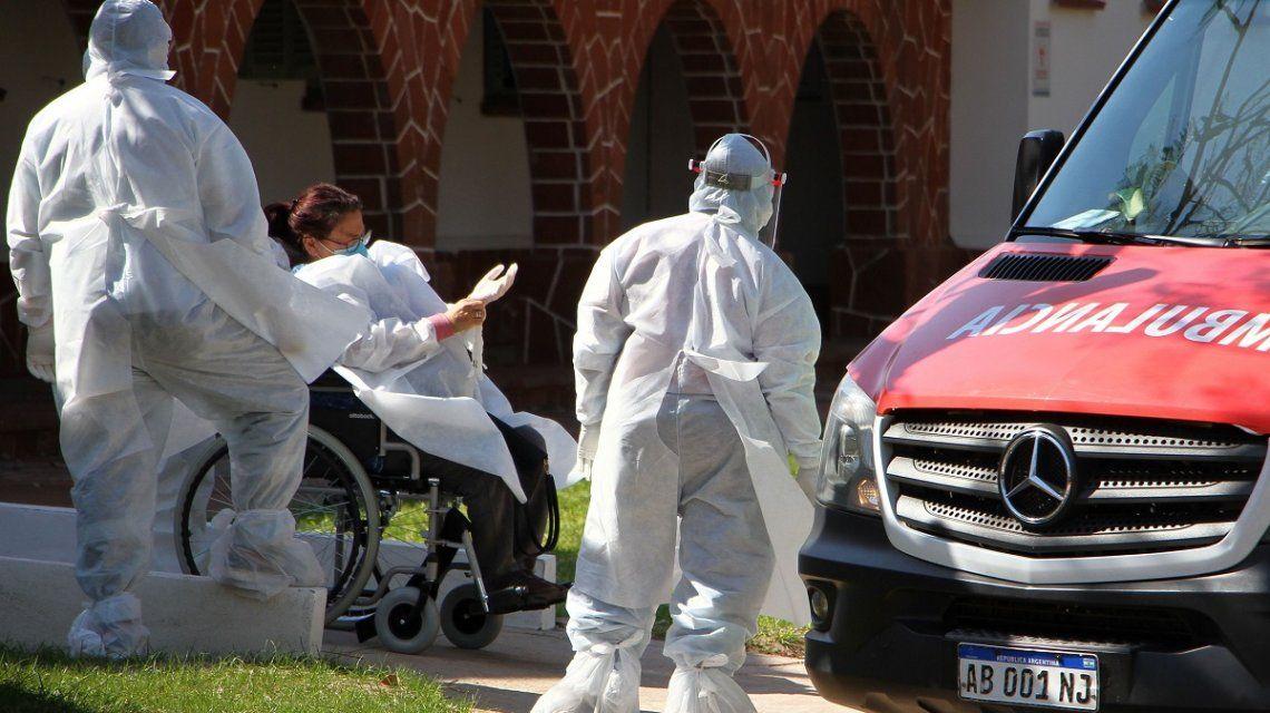 Coronavirus: puerta de ingreso a Internación general del hospital de campaña Hogar Escuela en Corrientes