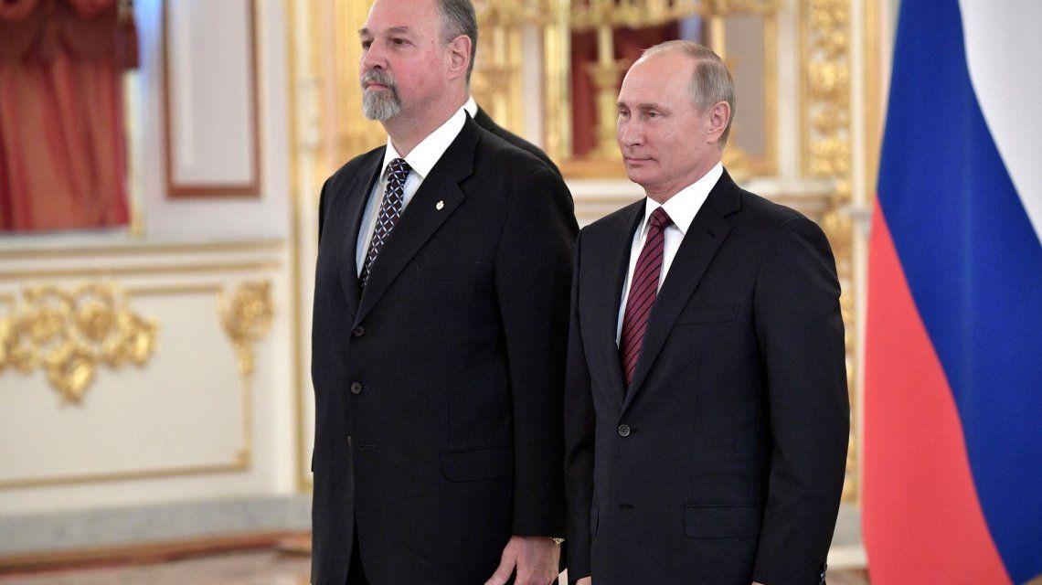 Ricardo Lagorio junto a Vladimir Putin