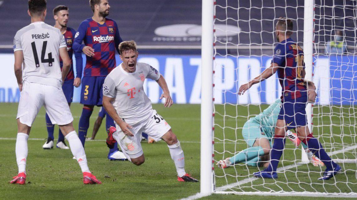 Bayern Munich aplastó 8 a 2 al Barcelona de Lionel Messi